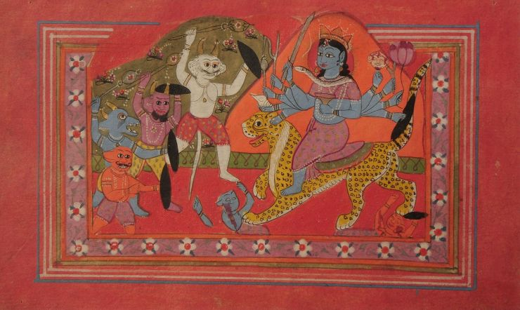 Ten-armed_Devi_annihilating_demons_-_Unknown,_Kashmir_School_-_Google_Cultural_Institute