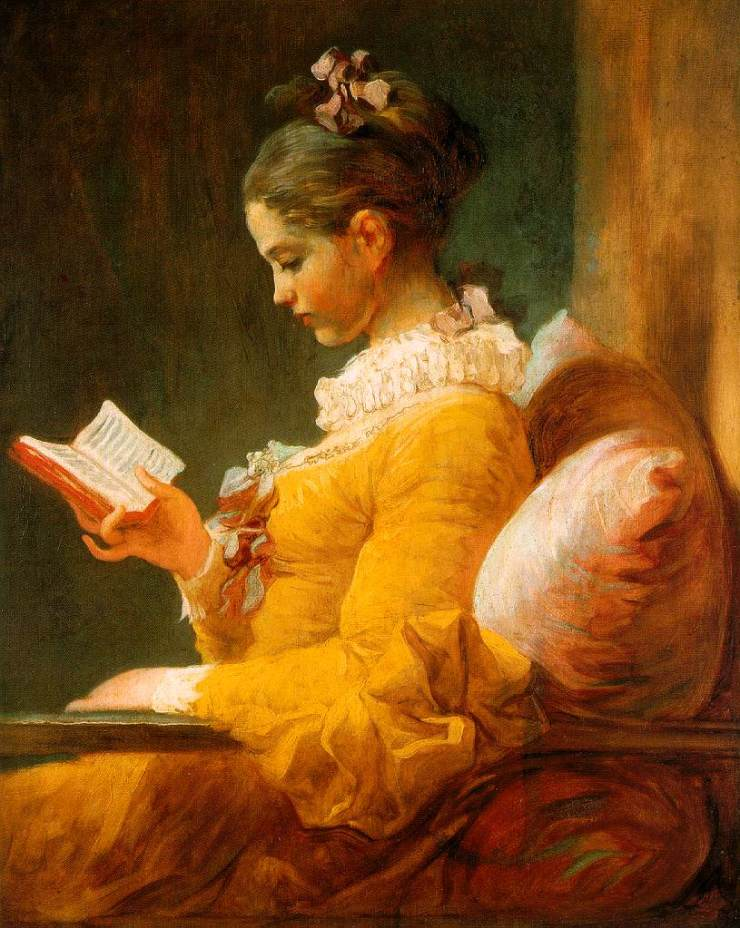 Reading Woman by Jean-Honoré Fragonard [Public domain], via Wikimedia Commons